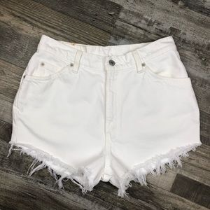 Levi's 912 Cut Off Jean Shorts size 8
